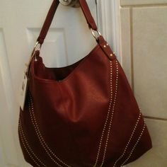 Hobo bag Wine color leather hobo bag...brand new Accessories