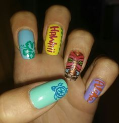 < Hawaiian Nail Art >