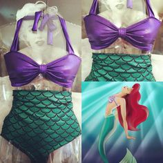 little mermaid bathing suit oh my goodness...