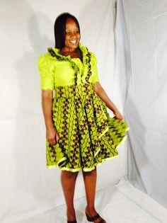 Robe de vêtements africaine robe africaine tissu par PFABdesigns