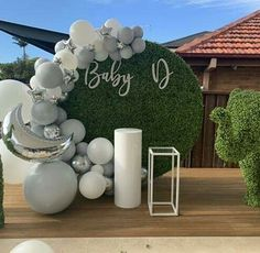 No hay descripción de la foto disponible. Baptism Party Decorations, Balloon Decorations Party, Baby Shower Decorations, Baby Boy Cakes, Baby Shower Cakes, Baby Boy Shower, Baby Shower Favours For Guests, Baby Girl Birthday, Balloon Wall