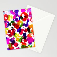 Sunshine Spot Red Stationery Cards by Amy Sia   Society6