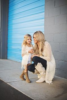 HE Hello Enjoy mother and daughter clothes 2017 summer mommy and me clothes tassel jacket + vest family matching outfits Mother Daughter Outfits, Mommy And Me Outfits, Future Daughter, Future Baby, Mother Daughters, Baby Kind, My Baby Girl, Mom Baby, Daughters