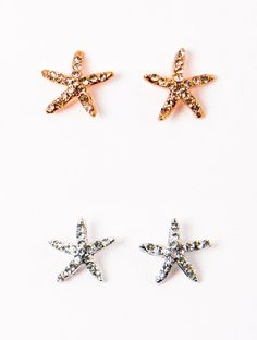 Starfish Studs in Rose Gold or Silver