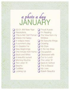 A Photo a Day Checklist ~ January   Akemi Photography