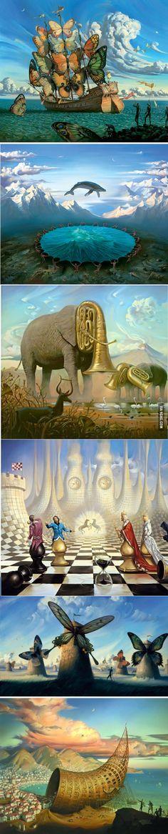 Surrealistic painter: Vladimir Kush
