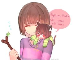 Frisk and Cat! Chara | Artist Dayuh