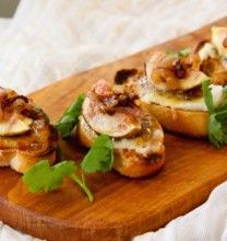 A Match Made in Heaven — Fig Crostini with Manchego and Caramelized Shallots