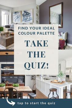 Looking for the perfect colour palette for your interiror design project? Take this quiz for an easy, stress-free way of finding the ideal colour palette for your home. ClaireJefford.com