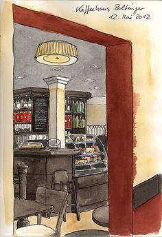 Kaffeehaus Zeltinger, Frohnau, Berlin by KatrinMerle, via Flickr