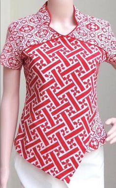 Model Baju Batik Atasan Terbaru 2018 Source by pindiver dress Model Dress Batik, Batik Dress, Designer Kurtis, Blouse Batik Modern, Batik Blazer, Model Kebaya, Batik Kebaya, Batik Pattern, Batik Fashion