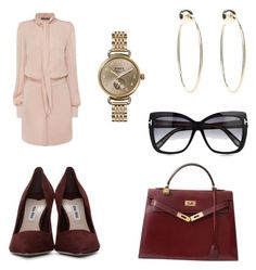 """""""Business Look"""" by hanakalesic ❤ liked on Polyvore featuring Alexander McQueen, Bebe, Miu Miu, Shinola, Hermès and Tom Ford"""