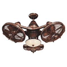 """Want this for my bedroom...immediately! :)   38"""" Esquire Rich Bronze Finish 3-Head Ceiling Fan"""