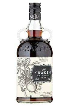The Kraken Black Spiced Rum - Prettiest Drinks Bottles - Cocktails To Make (houseandgarden.co.uk)