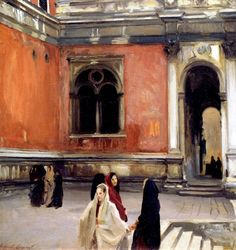 John Singer Sargent. Campo behind the Scuola di San Rocco, 1882. Oil on Canvas. 26 x 27 in. (66 x 68.6cm)