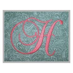 Swirl Script Monogram Set – 4″, 5″, 6″