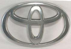 Toyota Emblem Silver Plastic Chromed for Art Projects Has Damaged Prongs #Toyota