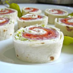Italian Pinwheels Recipe Appetizers, Lunch with fat, cream cheese, pepperoncini, deli ham, pepperoni, salami, flour tortillas