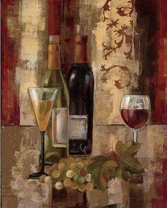 Silvia-Vassileva-Graffiti-and-Wine-III-Keilrahmen-Bild-Leinwand-Wein-Kueche-Deko
