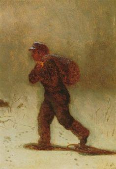 The trek home by Eastman Johnson