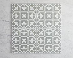 Concrete Look Tile, White Concrete, Cement, White Herringbone Tile, Fish Scale Tile, Feature Tiles, Bathroom Interior Design, Tile Patterns, Mosaic Tiles