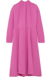BalenciagaSplit-side silk-georgette midi dress