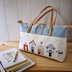 artchala handmade: HandCarry Bag : Holiday Beach Hut