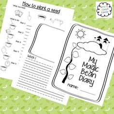 My magic bean diary - A great way to combine science and fairytales! Students write a procedure to plant a seed and then make weekly observations following the growth of their seed. You can even tie in with healthy eating and eat the beans. Check it out in my TpT store!