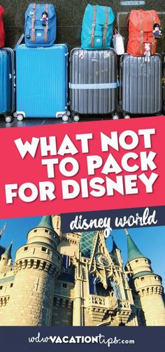 Some things you can skip packing and save yourself a little money if you are flying to Disney World. This is because Disney has them available to you once you arrive. Without further ado here is what NOT to Pack for Disney World.