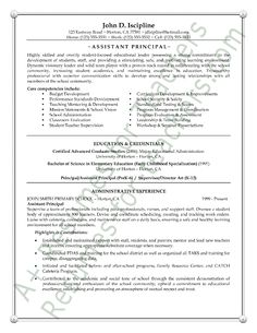 28 Best Principal Resume Images Teacher Cover Letter