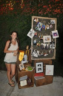 Graduation party decor, a great photo display.