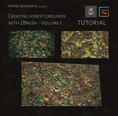 Forest grounds with Nanomesh ZBrush Tutorial - Volume 1, Pierre Benjamin on ArtStation at https://www.artstation.com/artwork/bO0ev