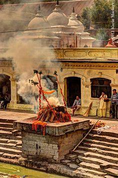 Funeral at Kathmandu, Nepal