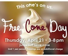 Carvel Free Cone Day - Today! - http://freebiefresh.com/carvel-free-cone-day-today/