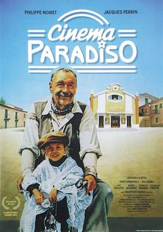 Cinema Paradiso. This reminds me so much of my Dad. He took me to the movies almost every week and did not allow me to see the kisses :)
