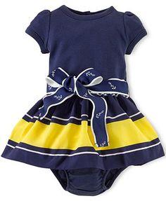 239e72d72d Ralph Lauren Baby Girls  Nautical Dress Kids - Macy s