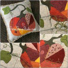 how to do crazy patchwork Wool Applique Patterns, Quilt Patterns Free, Applique Designs, Embroidery Patterns, Pillow Patterns, Hand Embroidery Stitches, Hand Quilting, Crazy Quilting, Quilting Templates