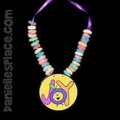 Joy - Fruit of the Spirit Necklace Craft from www.daniellesplace.com