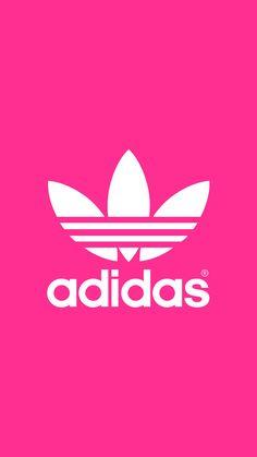 アディダス/adidasのロゴのピンクiPhone壁紙