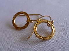T I M E L E S S Gold Vermeil Hammered Circle by MandyLemig on Etsy, $20.00