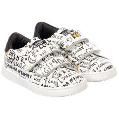 4a829168d7775 Dolce   Gabbana - White Graffiti Print Trainers