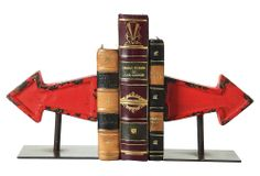 One Kings Lane - Industrial Accents - S/2 Cast Iron Arrow Bookends
