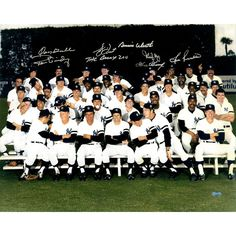 1978 New York Yankees Multi-Signed 16x20 Finger Team Photo Gossage Guidry Piniella Dent The Bronx Zoo Gamble May Werth