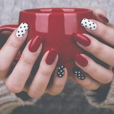 nail art designs classy & nail art designs & nail art designs for spring & nail art designs easy & nail art designs for winter & nail art designs summer & nail art designs classy & nail art designs with glitter & nail art designs with rhinestones Red Nail Designs, Simple Nail Art Designs, Winter Nail Designs, Best Nail Art Designs, Easy Nail Art, Cool Nail Art, Winter Nail Art, Winter Nails, Winter Art