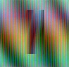Carlos Cruz-Diez Chromatic Induction Dual Frequency... ✖️More Pins Like This One At FOSTERGINGER @ Pinterest ✖️Fosterginger.Pinterest.Com.✖️No Pin Limits✖️