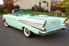 1957 Spring Mint Green Bel Air..Re-pin brought to you by #bestrate #CarInsurance at #HouseofInsurance Eugene