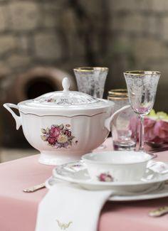 84 Prç. Karaca Antique Rose Yemek Takımı