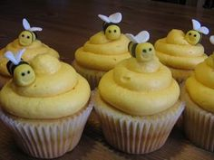 Bumble Bee Cupcakes...these are very cute.