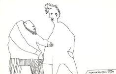 DIALOGOS  autor: Ramiro Quesada  dimensiones: 29.4 cm x 18.8 cm  post: fer      Ramiro Quesada deci, pone ME GUSTA o bueno o no  http://www.facebook.com/megustaramiroquesada   draw