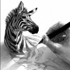 schetsen : het is met de hand getekend en je kan vlotte bewegingen zien